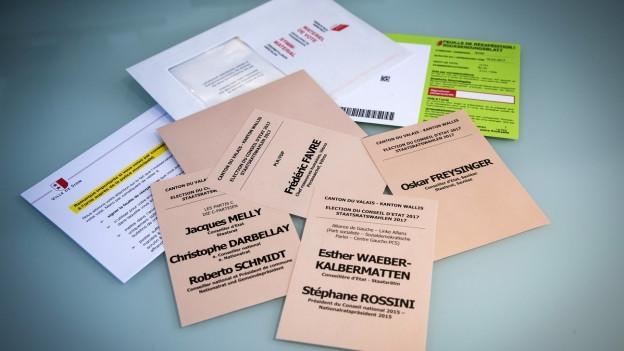 Ein Oberwalliser hatte im März 2017 Wahlunterlagen aus Briefkästen gefischt und gefälscht.