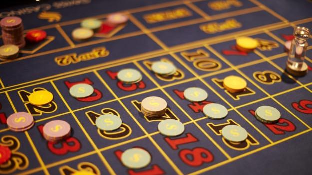 Spielbrett eines Glücksspiels