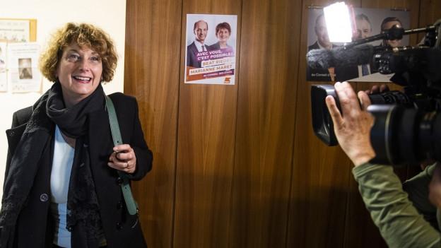 Marianne Maret kann lachen. Sie ist die erste Walliser Ständerätin.