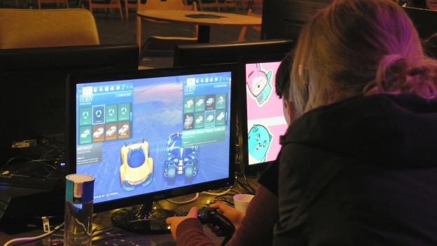 Am Festival können die Besucher unter anderem verschiedene Games testen.