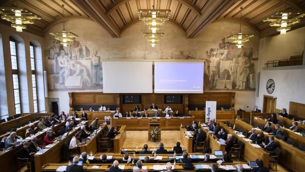 Kantonsparlament im Rathaus Bern