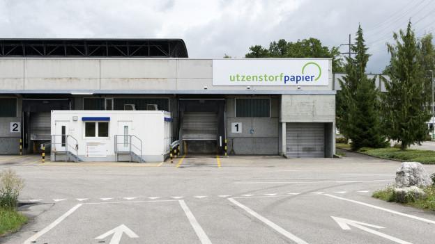 Die Papierfabrik Utzenstorf AG, aufgenommen im Juli 2017 in Utzenstorf.