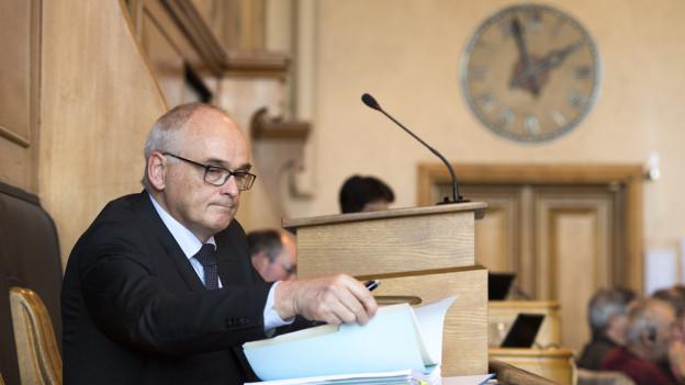 Pierre Alain Schnegg politisiert eigentlich auf der bürgerlichen Linie – mit einzelnen Ausnahmen.