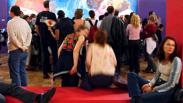 Publikum an einer Filmveranstaltung