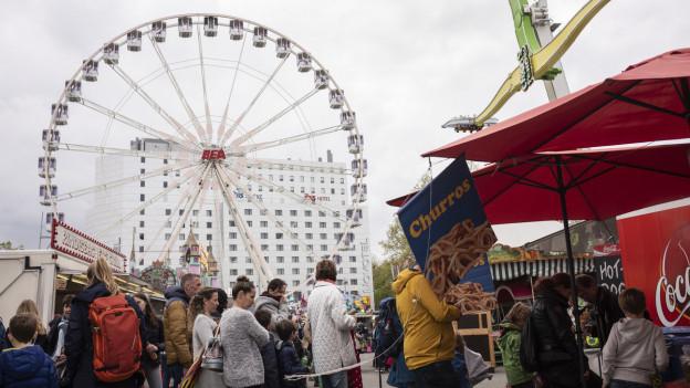 Das Riesenrad an der Berner Messe BEA