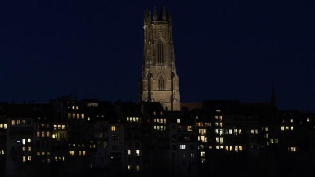 Freiburger Münster in der Nacht