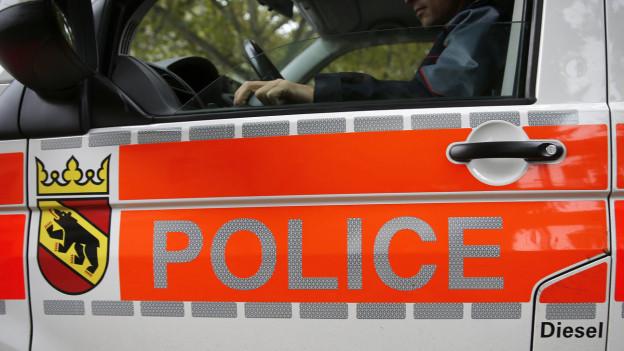 Die Polizei riegelte das Dorf Pieterlen ab.