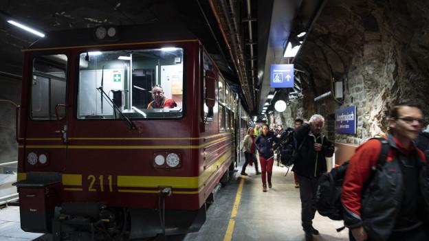 Jungfraubahn: ruhig angelaufener Betrieb