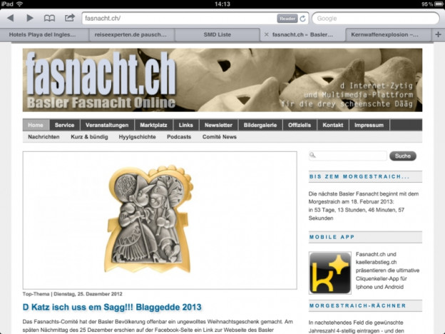 Basler Fasnachtsplakette 2013