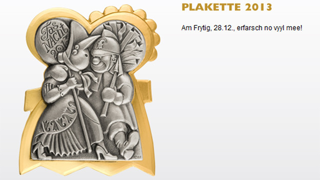 Die Plakette 2013 der Basler Fasnacht