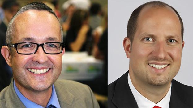 Die SVP-Landräte Thomas Weber und Dominik Straumann