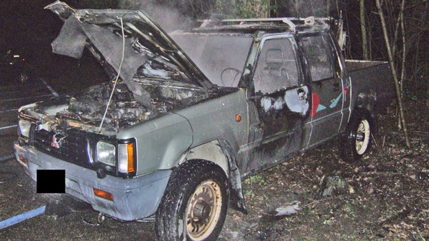 Autobrand in Birsfelden