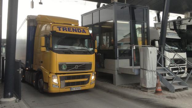 Neue Zollanlage beschleunigt Lastwagenabfertigung