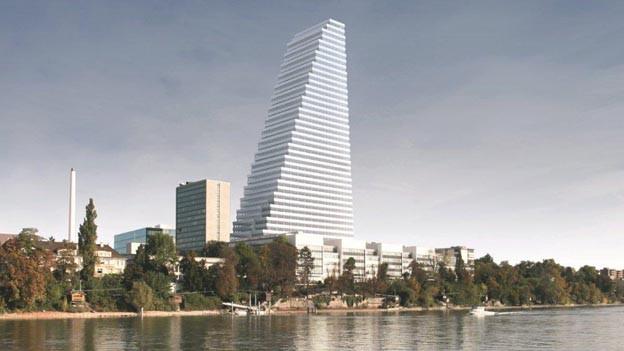 Roche-Turm wird künftig das Basler Stadtbild prägen.