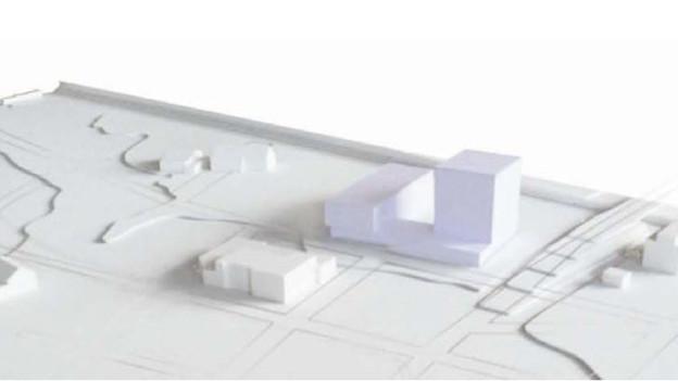 Das geplante Sammlungszentrum im Modell