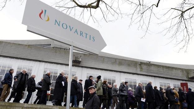 Grossandrang zur letzten Novartis-GV unter Daniel Vasella