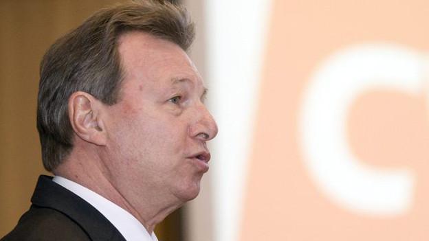 Peter Zwick an einem CVP-Parteitag im Jahre 2011