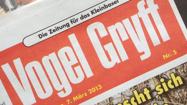 Aktuelles Titellogo des Vogel Gryff.
