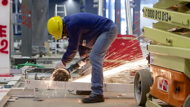 Der Aufbau der Baselworld dauert mehrere Wochen.