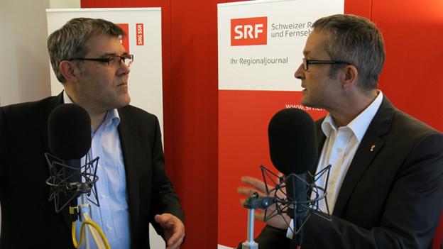 Eric Nussbaumer (links) und Thomas Weber im Streitgespräch.