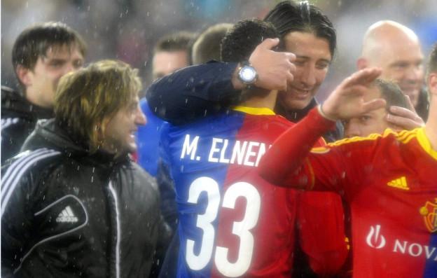 Der FC Basel jubelt nach dem Sieg gegen Tottenham