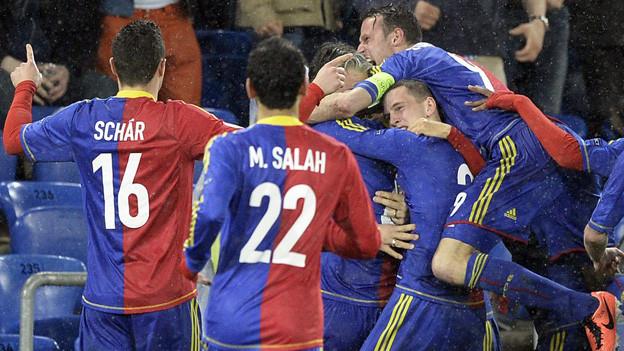 Der FC Basel nach dem Sieg gegen Tottenham