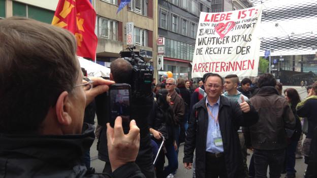 1.Mai-Kundgebung und Baselworld
