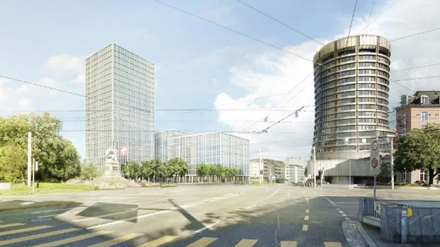 Projekt für ein neues Hochhaus am Bahnhof