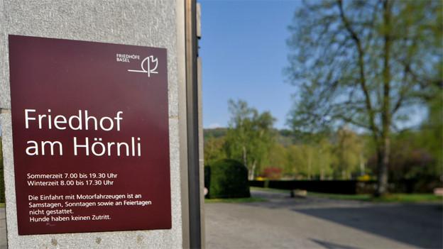 Meldestelle für Todesfälle am Friedhof Hörnli