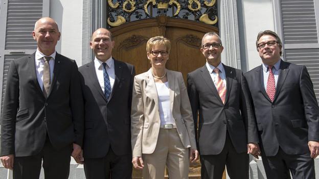 BL Regierung bis 2015: Reber, Lauber, Pegoraro, Weber, Wüthrich.