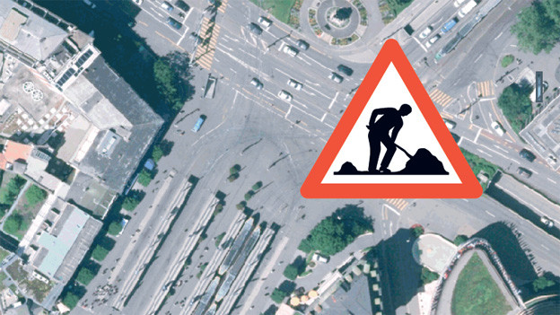 Mit einem Flyer macht die BVB auf die Baustelle aufmerksam.