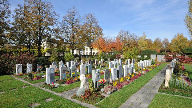 Grabfeld auf dem Friedhof Hörnli