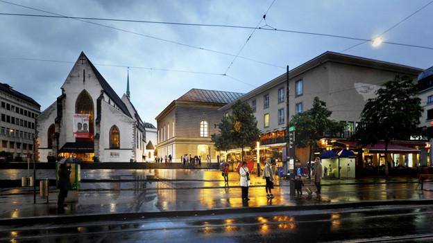Neben der Barfüsserkirche soll Stadtcasino erweitert werden
