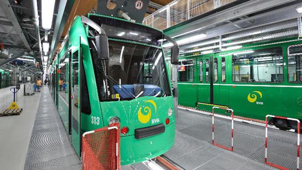 Trams im BVB-Depot Wiesenplatz