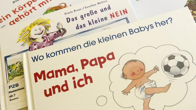 Aufklärungsmaterial für Sexualkunde an Basler Schulen.
