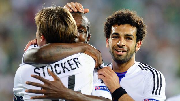 Schossen drei der 4 Tore: Mohamed Salah (r.) und Giovanni Sio (verdeckt)