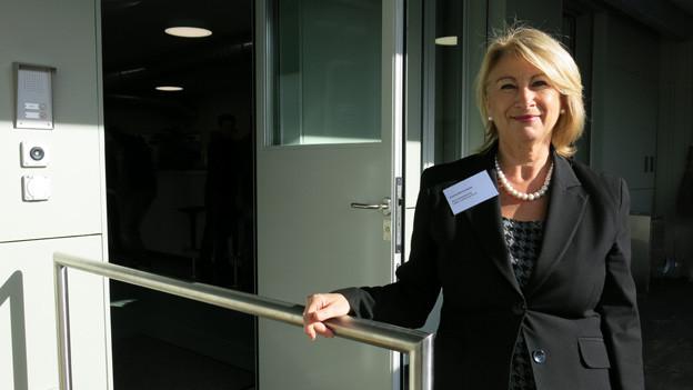 Die Leiterin der Abteilung Sucht, Eveline Bohnenblust, freut sich über die Eröffnung der neuen K+A Dreispitz.