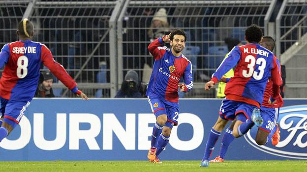 Goalschütze Mohamed Salah feiert seinen Treffer zum 1:0.