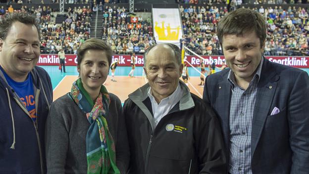 Die Verantwortlichen desTop-Volleyball-Turniers in Base