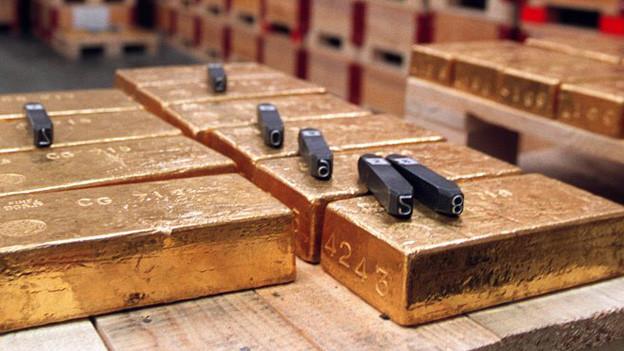 Goldbarren bei der Nationalbank