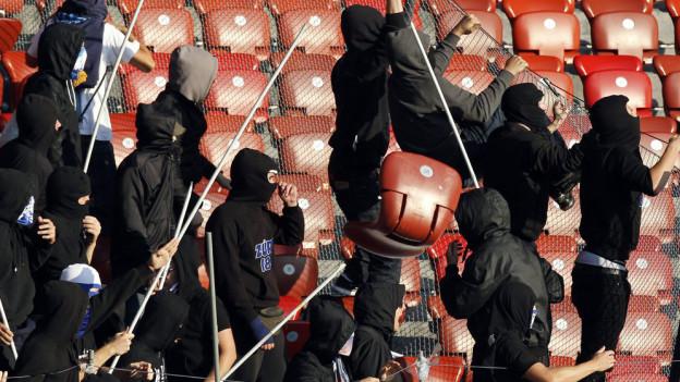 Hooligans im STadion