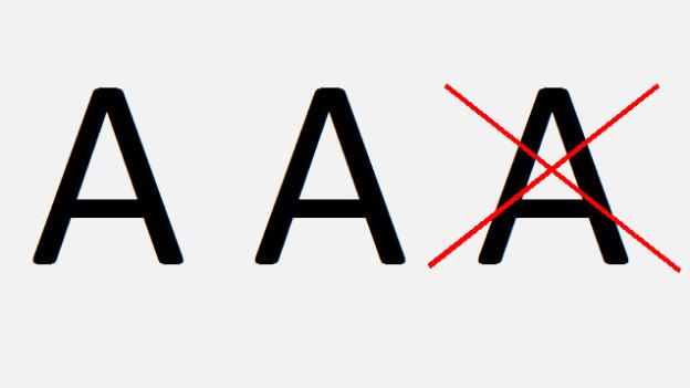 Von AAA zu AA+