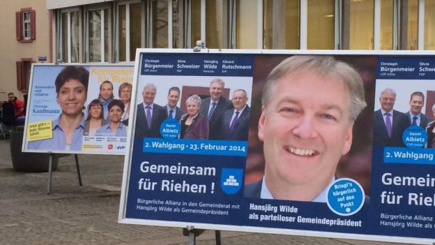 Wahlkampf in Riehen.
