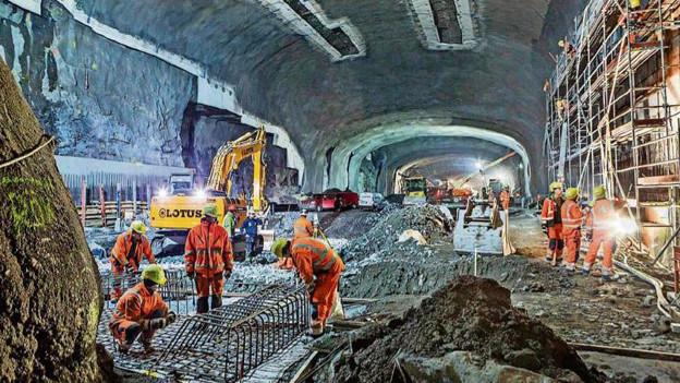 U-Bahn-Baustelle in Stockholm - Ziel von Wessels' Weiterbildungsreise.