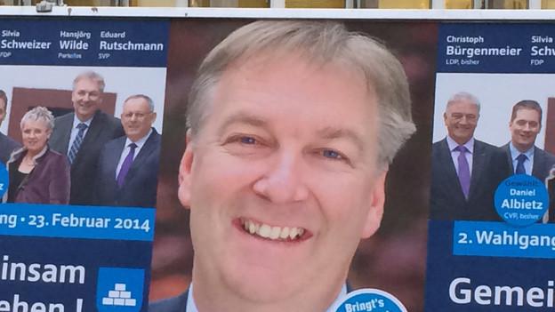 Hansjörg Wilde gewinnt Wahl in Gemeindepräsidium knapp.