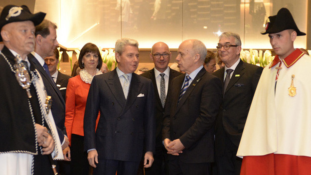 Bundesrat Ueli Maurer eröffnet die Baselworld