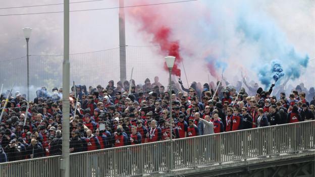 Fanmarsch im Cupfinal 2013 in Bern