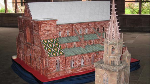 Kleines Basler Münster vor der Vollendung