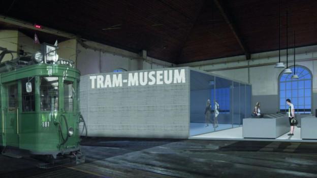 Visualisierung des zukünftigen Trammuseums