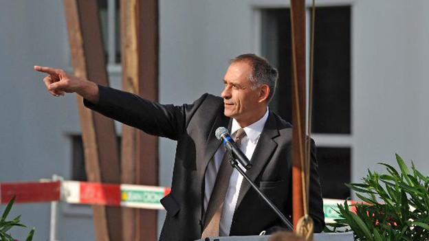Probleme für den Basler Baudirektor Hans-Peter Wessel